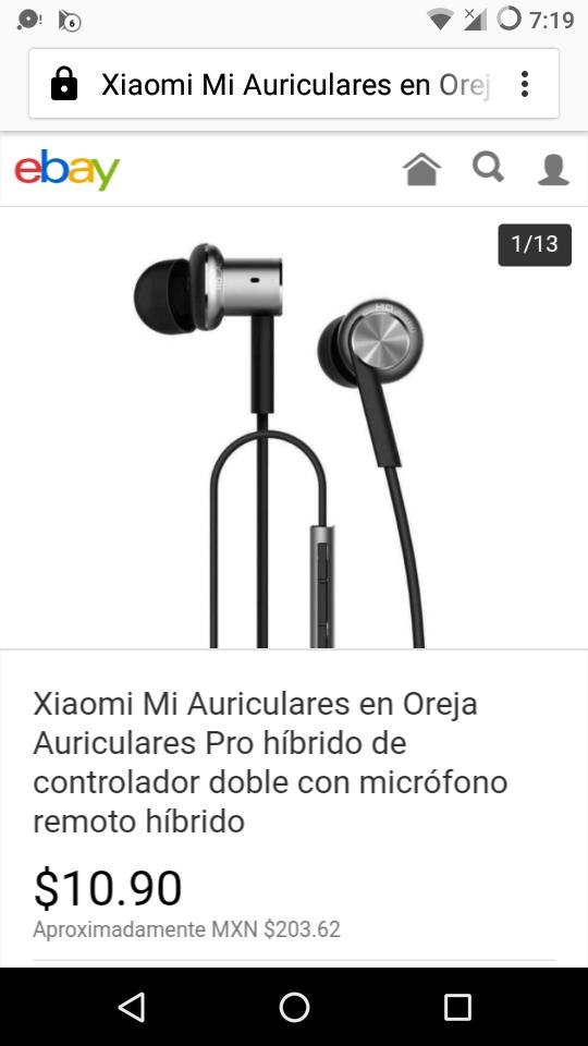 Ebay: Auriculares Pro híbridoXiaomi