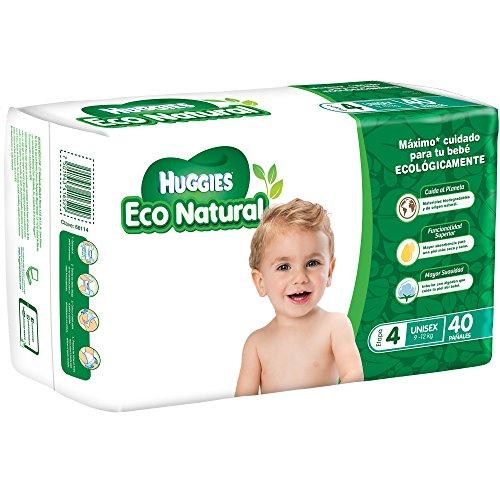 Amazon: Huggies Eco Natural Pañales Ecológicos para Bebé, Etapa 4, 40 Piezas