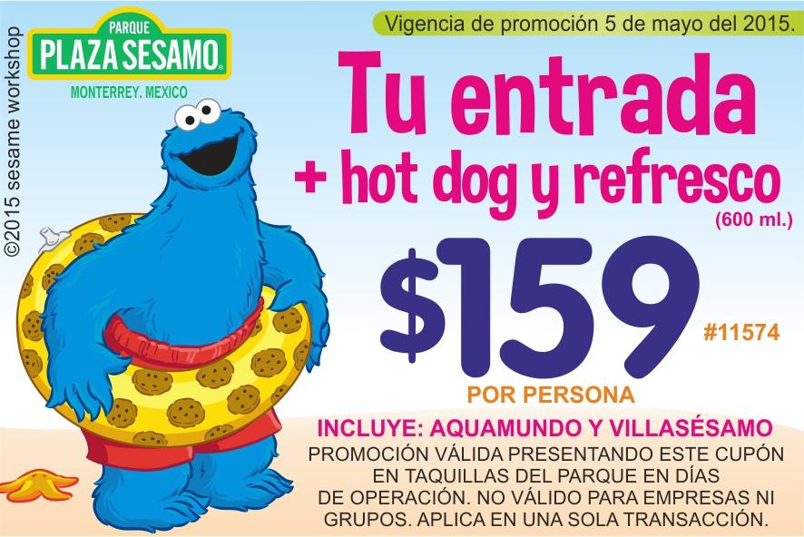 Plaza Sésamo (Parque de diversiones en Monterrey): Entrada, hot dog y refresco 600ml por $159 con soriticktet (Y lanzamiento de app)