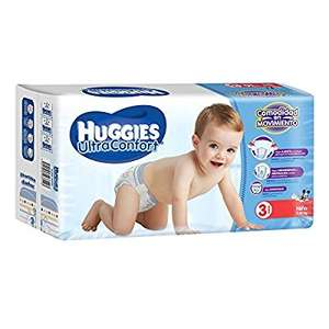 Amazon: Huggies Ultraconfort, etapa 3, para niño. 216 piezas.