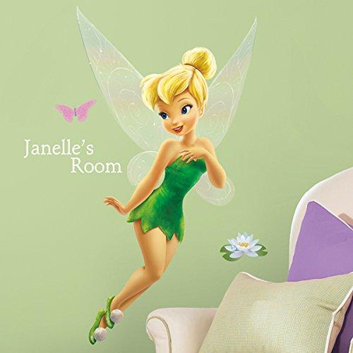 Amazon: Roommates Disney Campanita Vinil despegar y pegar adhesivo para pared