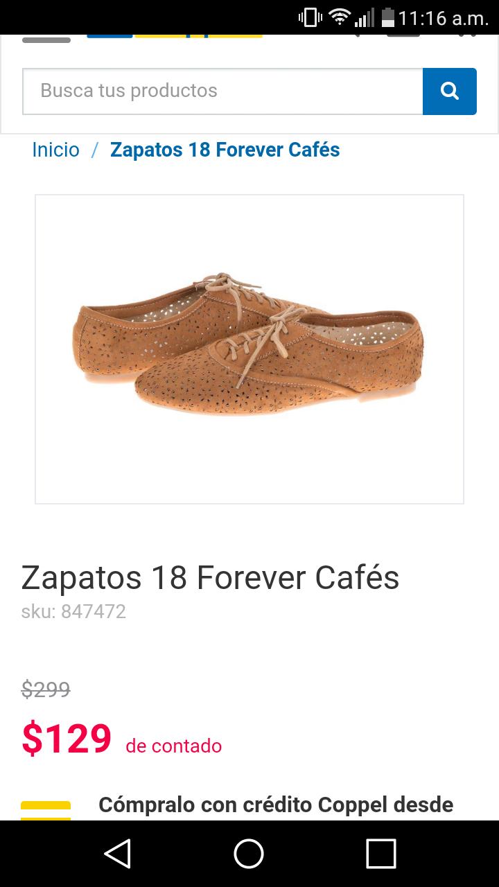 Coppel en linea zapatos 129 pesitos y blusa sahara 69 pesos