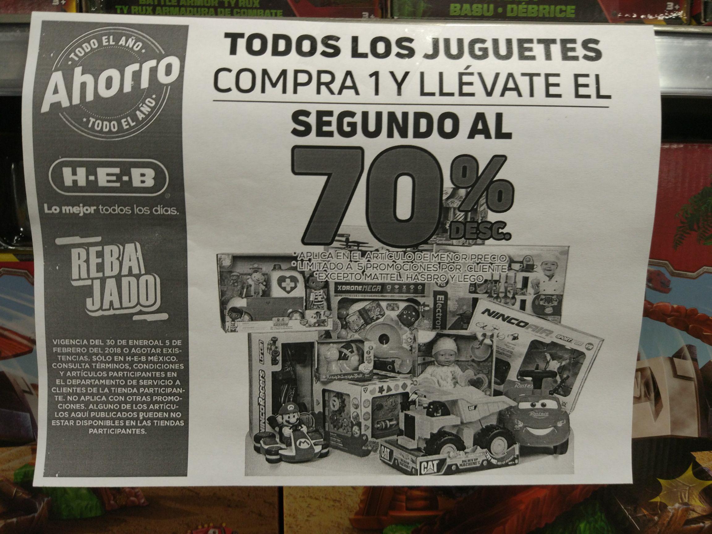 HEB: El segundo juguete con el 70%
