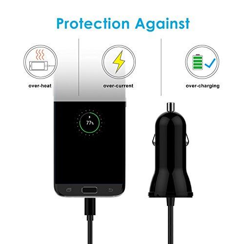 Amazon: JETech Rápido Cargador de Coche, con Cable Micro USB, 2 Puertos