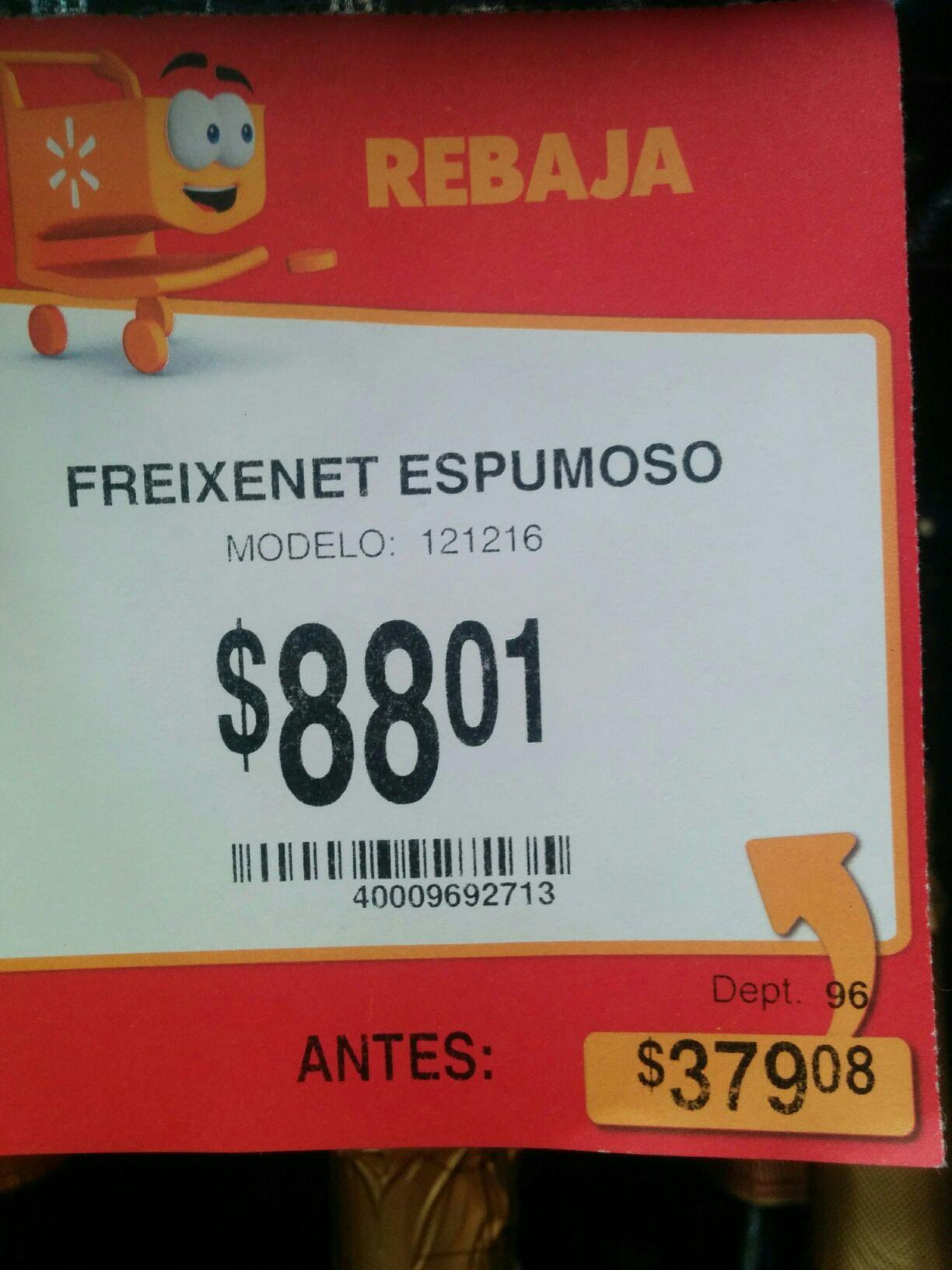 Walmart: vino espumoso Freixenet