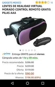 Amazon: Lentes de realidad virtual aplica prime