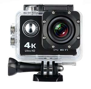 Amazon: CAMARA ACCION DEPORTIVA 4K ULTRA HD WIFI SUMERGIBLE ACCESORIOS