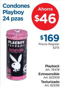 Sam's Club: Condones Playboy 24 piezas