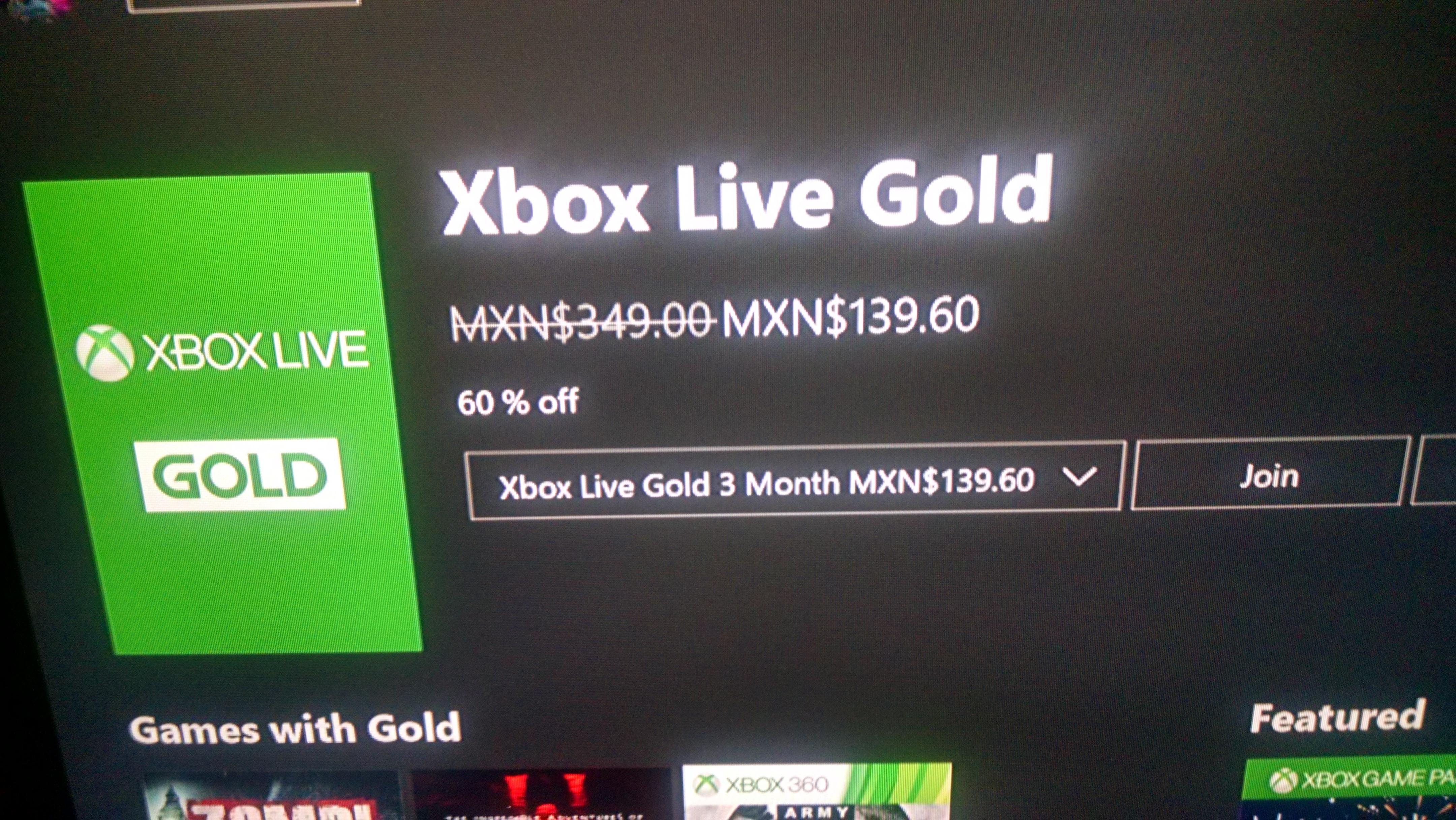 Xbox Live Gold 3 meses (Usuarios Seleccionados)