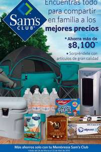 Folleto de ofertas Sam's Club del 26 de marzo al 22 de abril