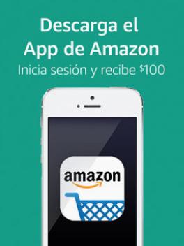 Amazon: Descarga el App de Amazon. Inicia sesion y recibe $100