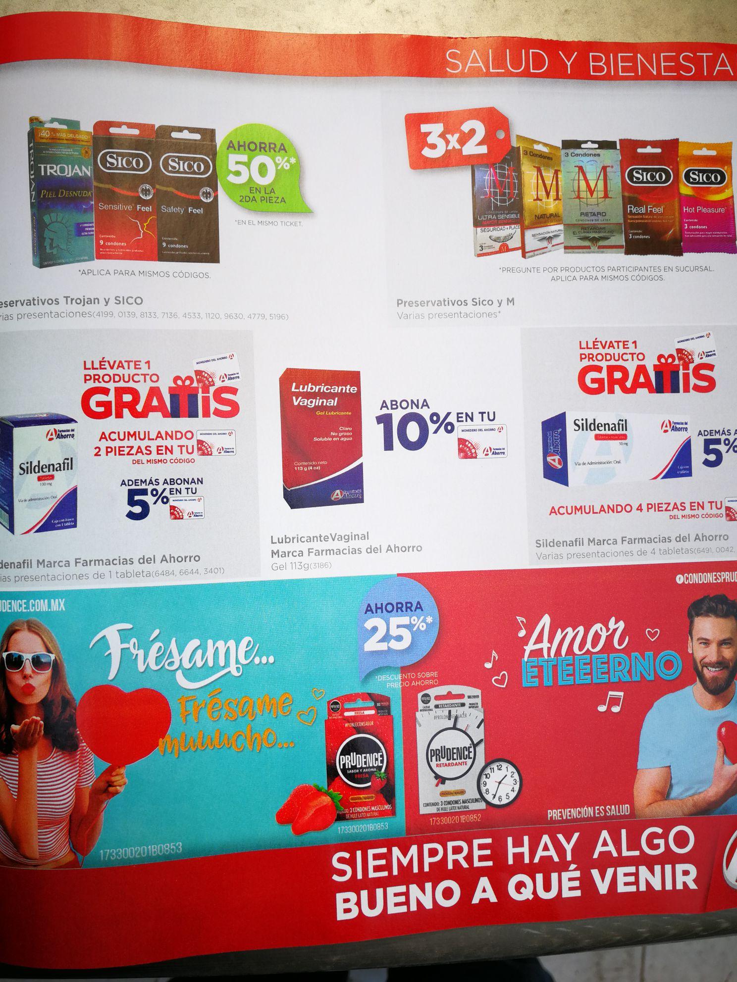 Farmacias del Ahorro: descuento en condones lubricantes y Viagra