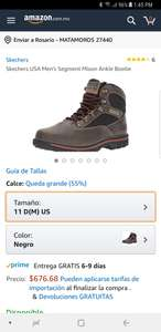 Amazon: Botas skechers del 11 US