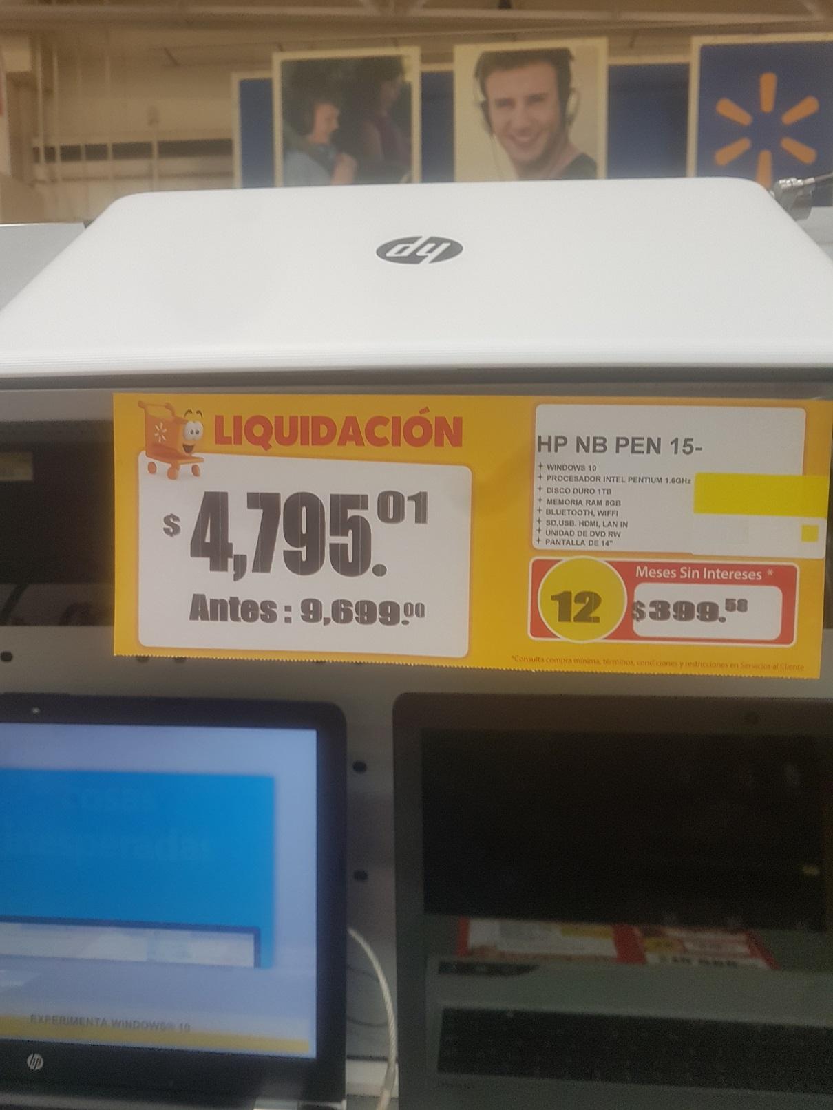 Walmart: liquidación Laptop HP.