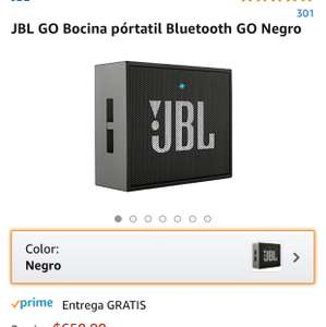 Amazon: Bocina Bluetooth JBL Go