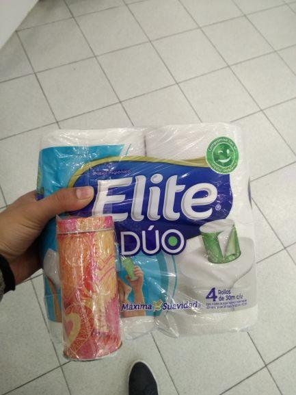Walmart: Elite duo Papel de baño + latita