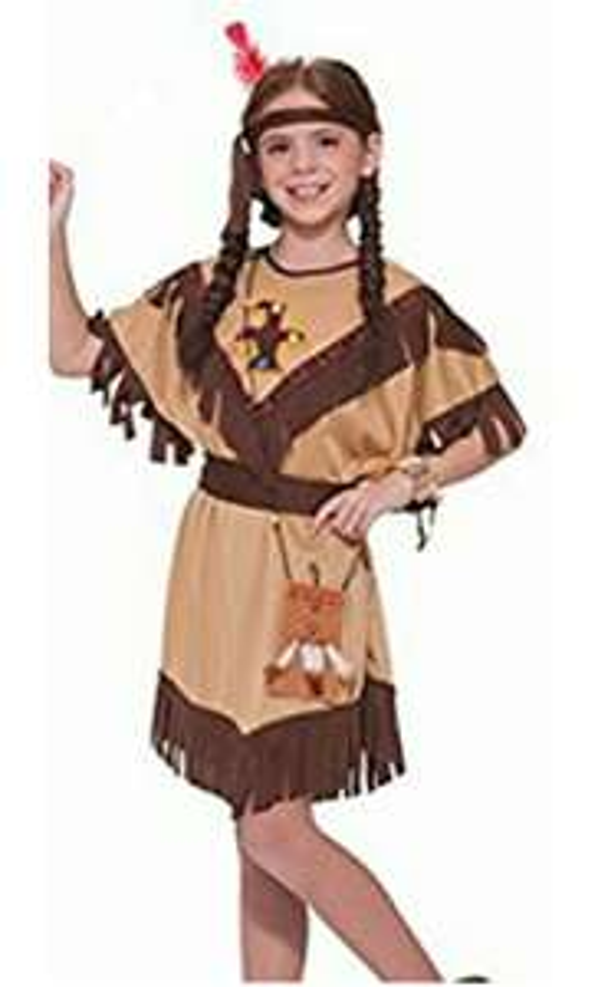 Amazon: Disfraz para niña (o) de indio americano talla chica (4-6 años)(Prime).