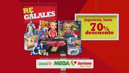 Comercial Mexicana, MEGA, Soriana Híper y Súper: Hasta 70% de descuento en juguetería