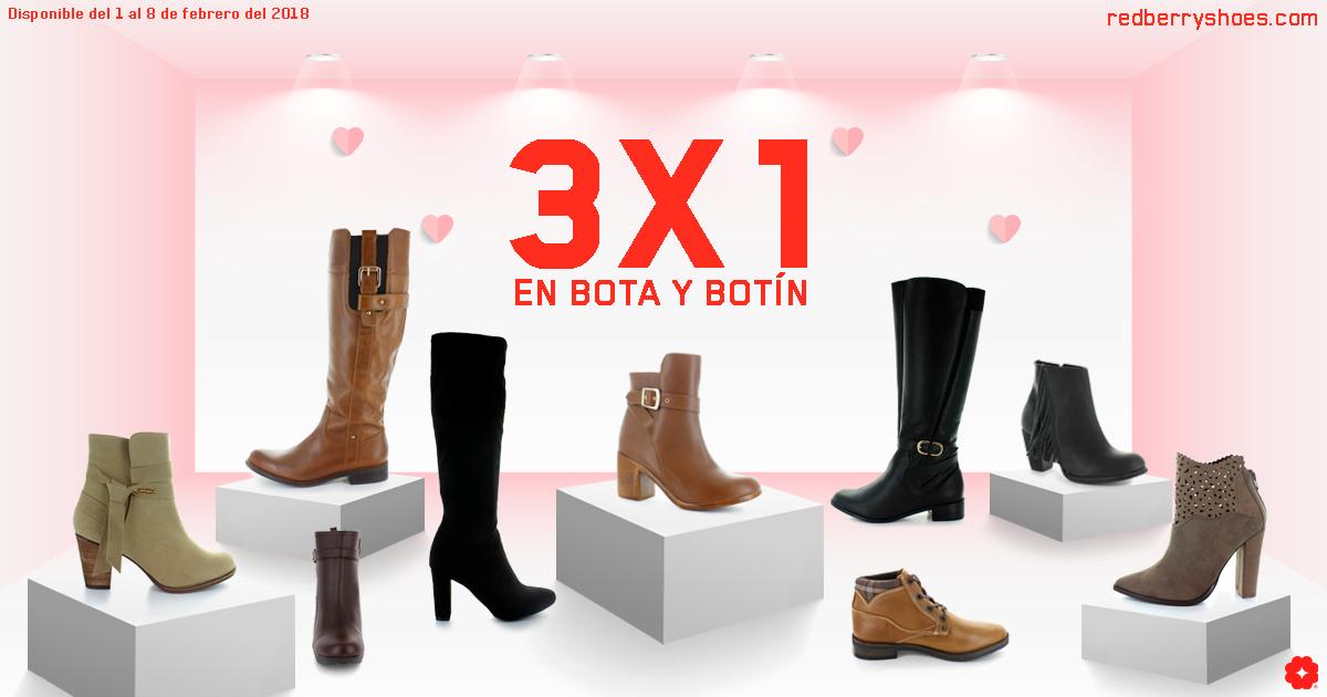 Redberry Shoes: 3X1 en bota y botin