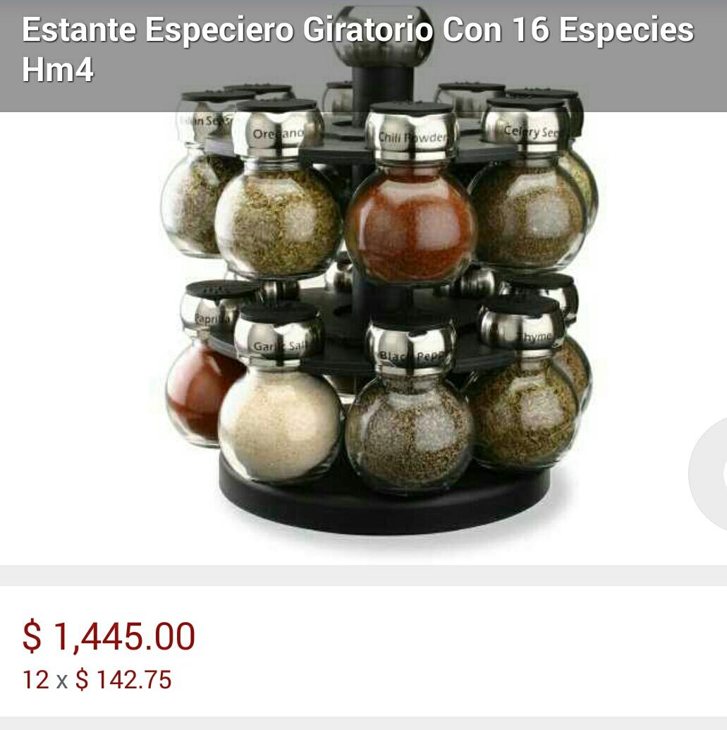 Costco: Especiero 16 frascos $399