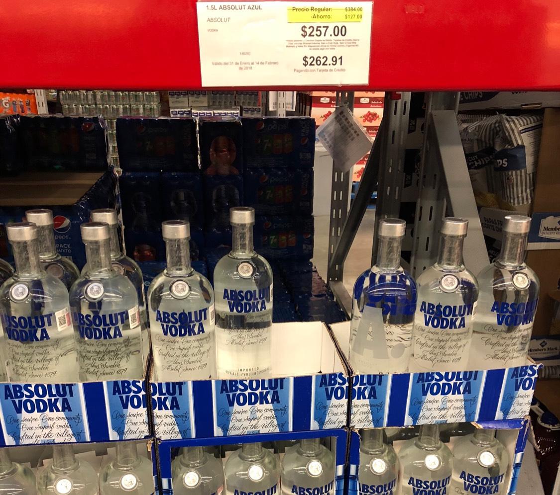 Sam's Club: Vodka Absolut 1.5 Litros