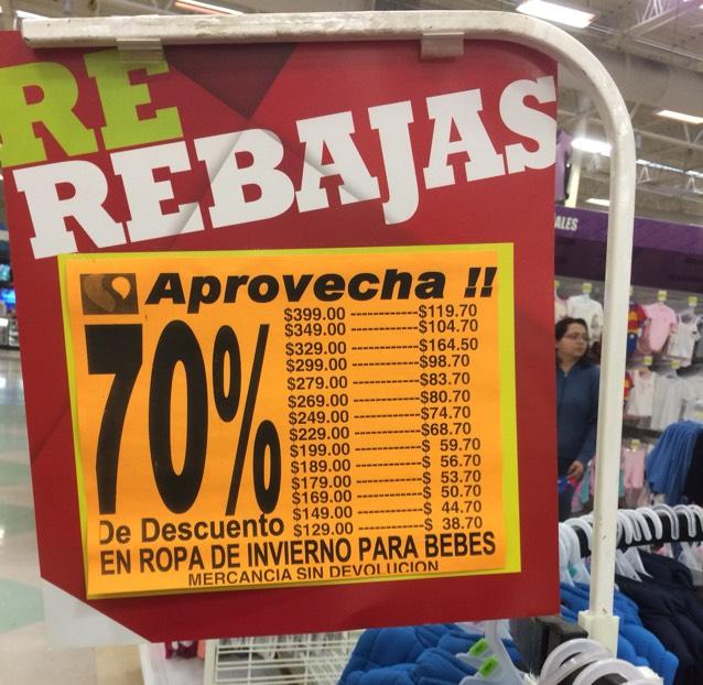 Soriana: 70% descuento  en ropa de invierno para bebe