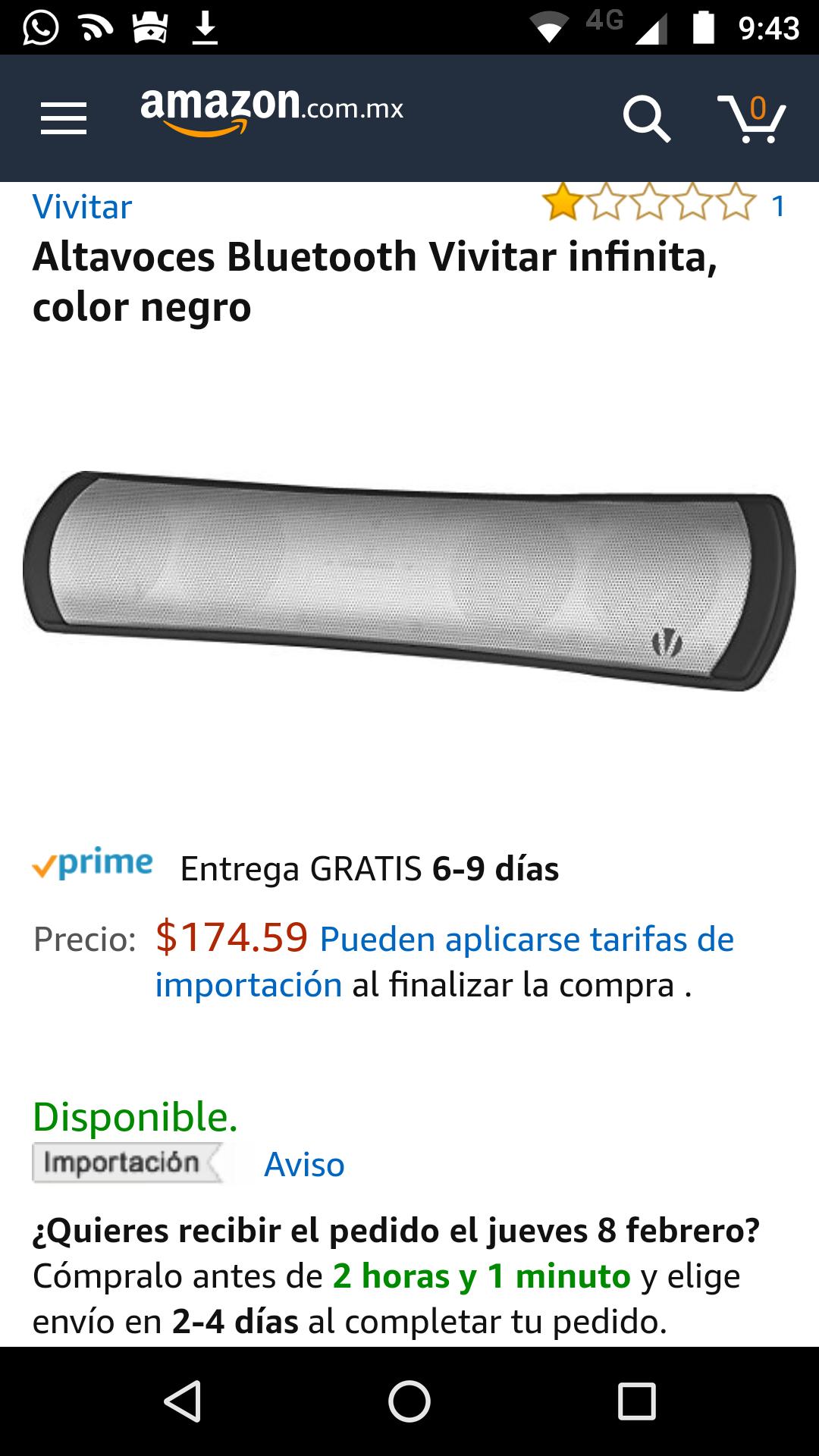 Amazon México: Altavoces Bluetooth Vivitar infinita, color negro