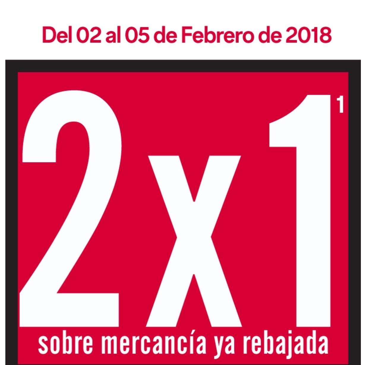 C&A: Mercancía rebajada al 2x1 del 2 al 5 de febrero