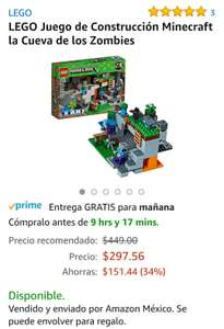 Amazon mx: LEGO MINECRAFT 241 PZ envío gratis PRIME