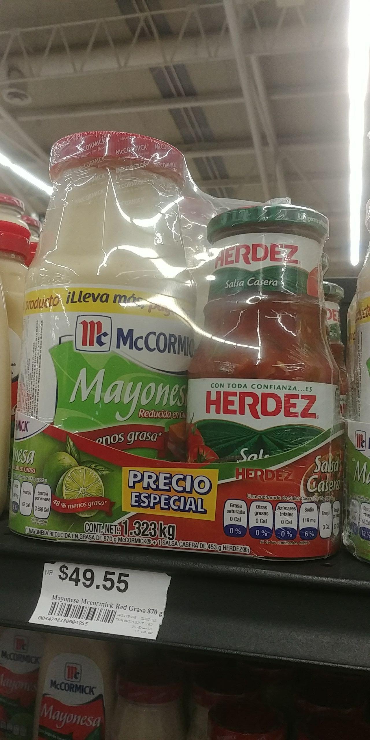 Chedraui: Mayonesa + Salsa Casera