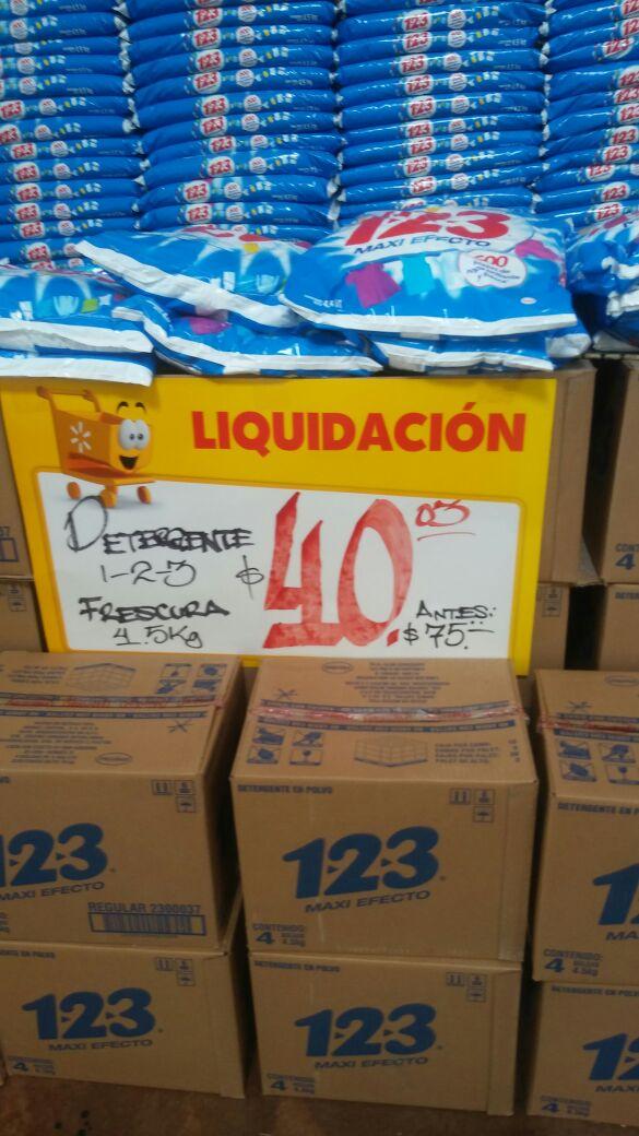 Walmart arco sur xalapa: detergente 123 $40.03