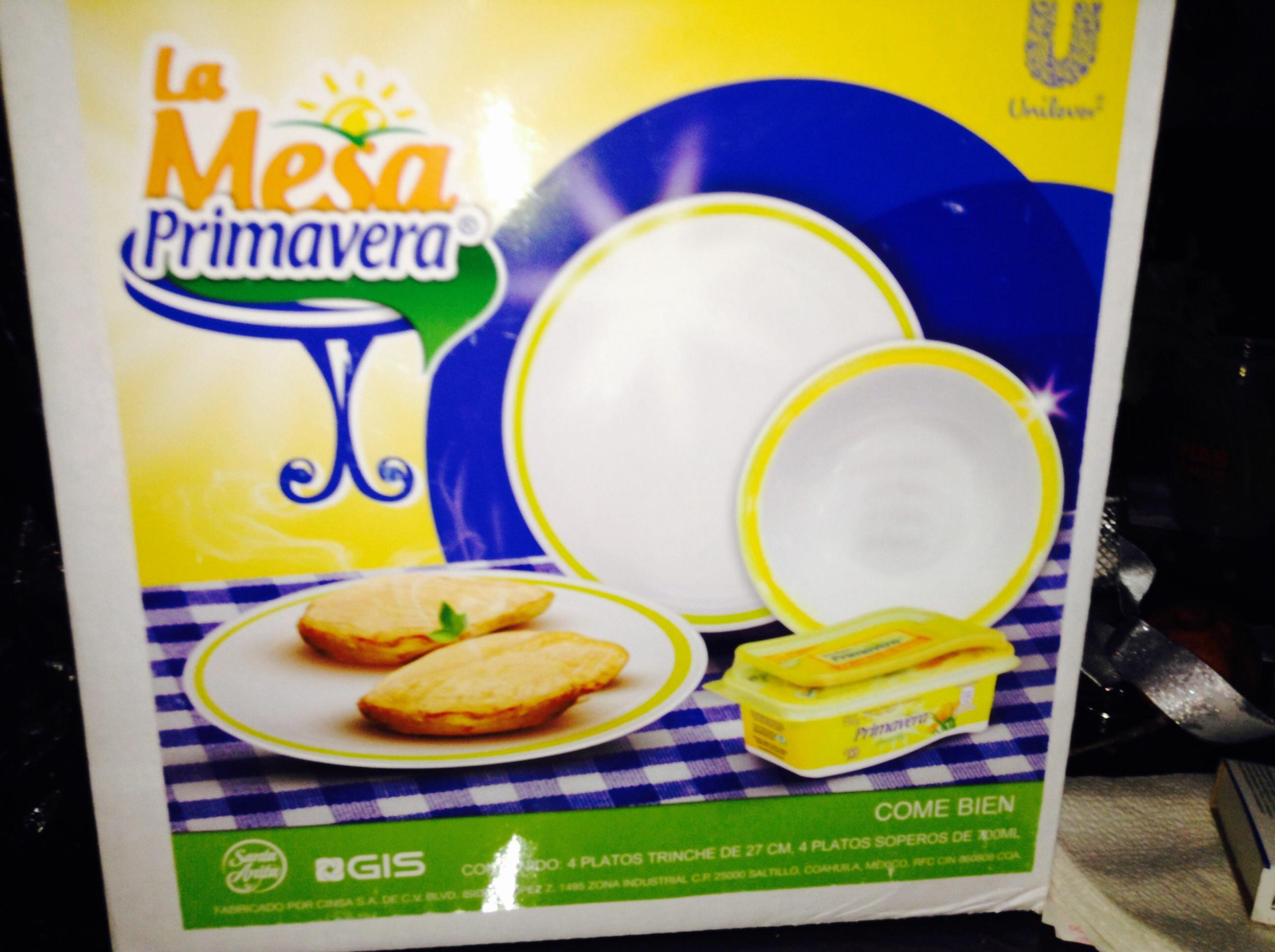 Walmart: Vajilla GRATIS en la compra de $150 en Margarina Primavera