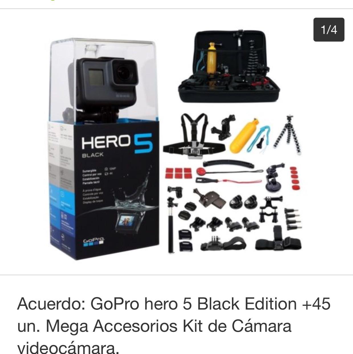 eBay: GoPro hero 5 Black Edition + Accesorios