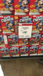 Chedraui: Cereal Capitan Crunch a $19.90