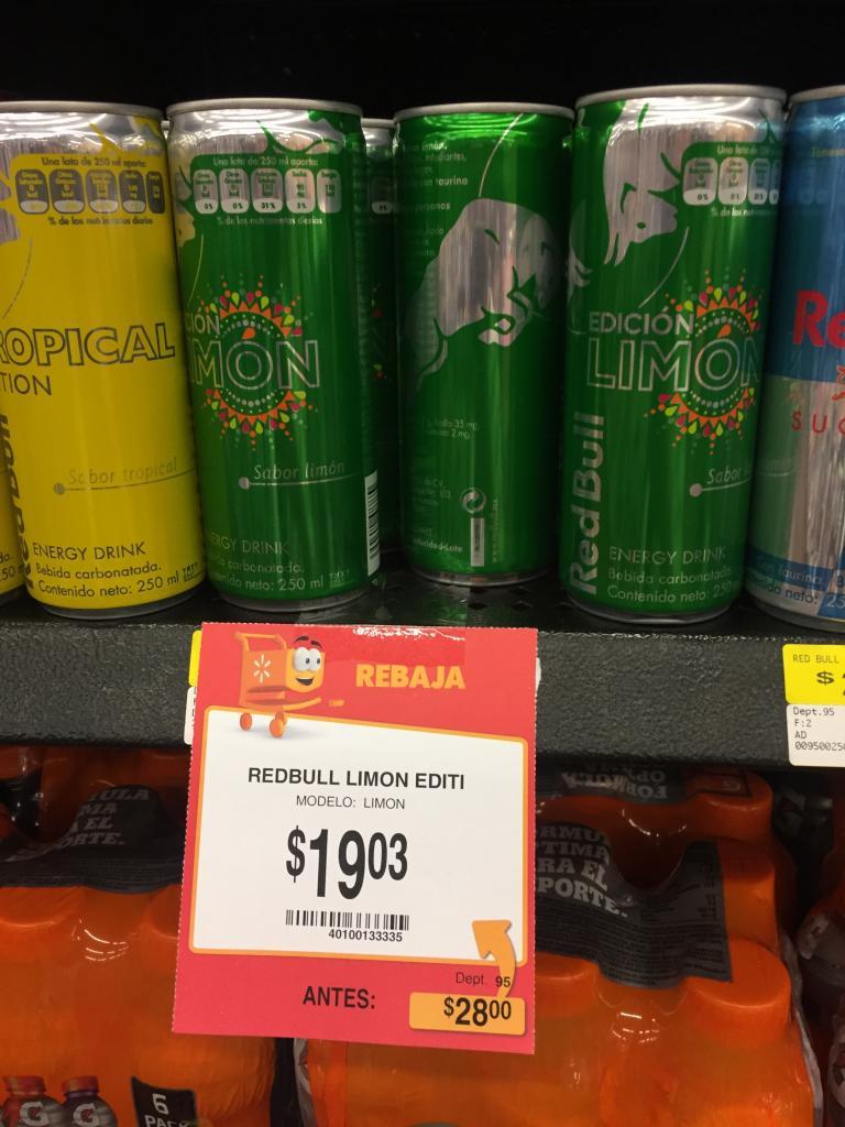 Walmart: Redbull Limon Edition a $19.03