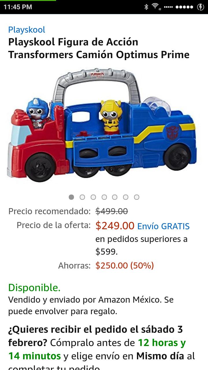 Amazon: Playskool Figura de Acción Transformers Camión Optimus Prime