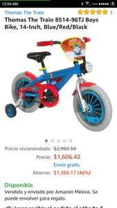Amazon: Thomas The Train 8514-96TJ Boys Bike, 14-Inch, Blue/Red/Black