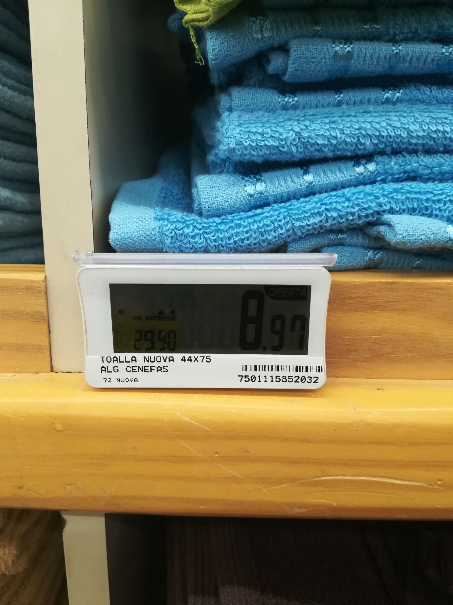 Del Sol: toalla  para manos a $9