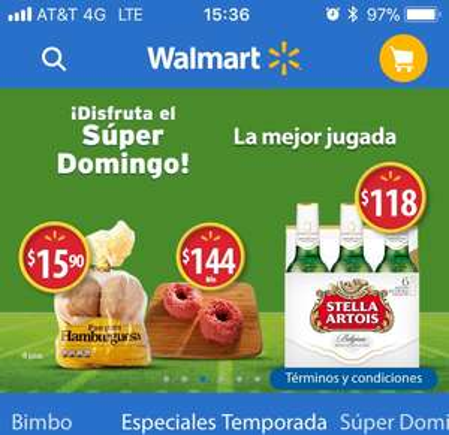Walmart en línea: Cerveza clara Stella Artois leuven lager 6 botellas de 330 ml c/u y más