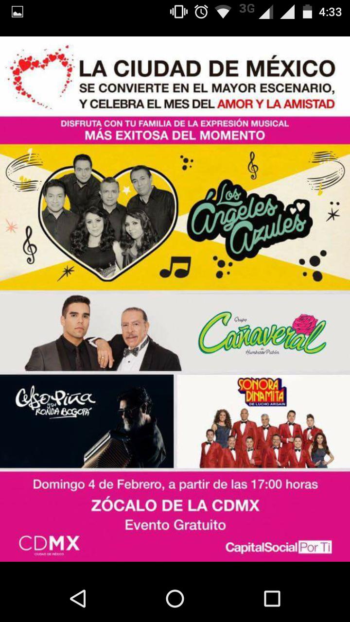CDMX: concierto gratis pa' mañana en el zocalo