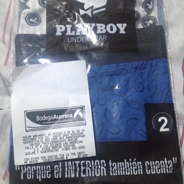 Bodega Aurrerá: 2 bóxers Playboy a $30.00