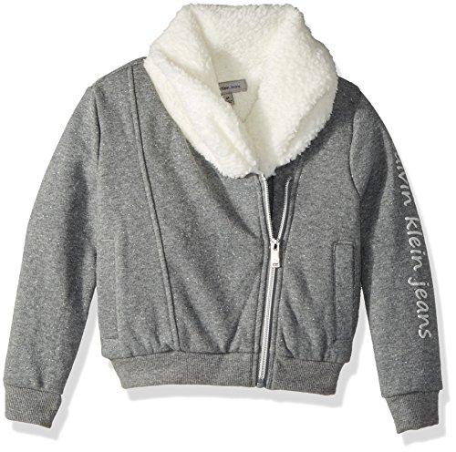 Amazon: Calvin Klein Girls' Sparkle Moto Sweatshirt para 2 años