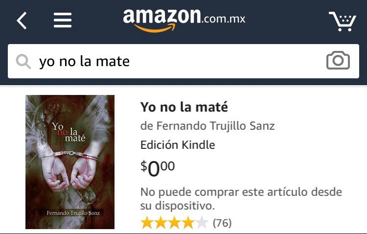 Amazon: Yo no la maté (formato digital) GRATIS