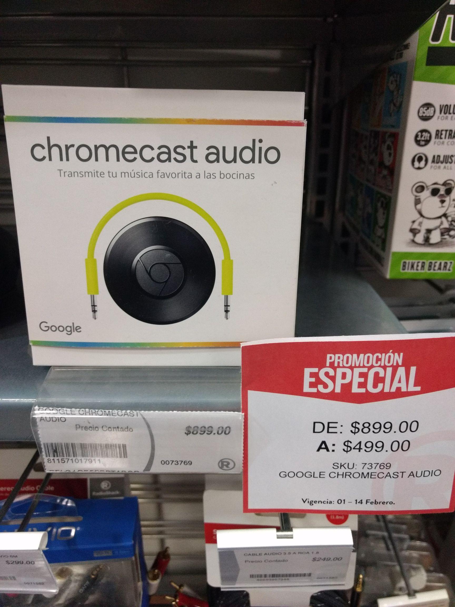 Chromecast Audio (Radioshack plaza las américas Edo de México)