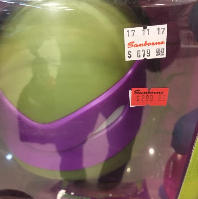 Sanborns Tuxtla: Lámpara 3D tortugas Ninja led