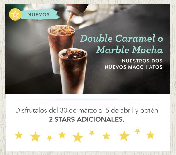 2 Stars Adicionales en tu Starbucks Card comprando algunas bebidas