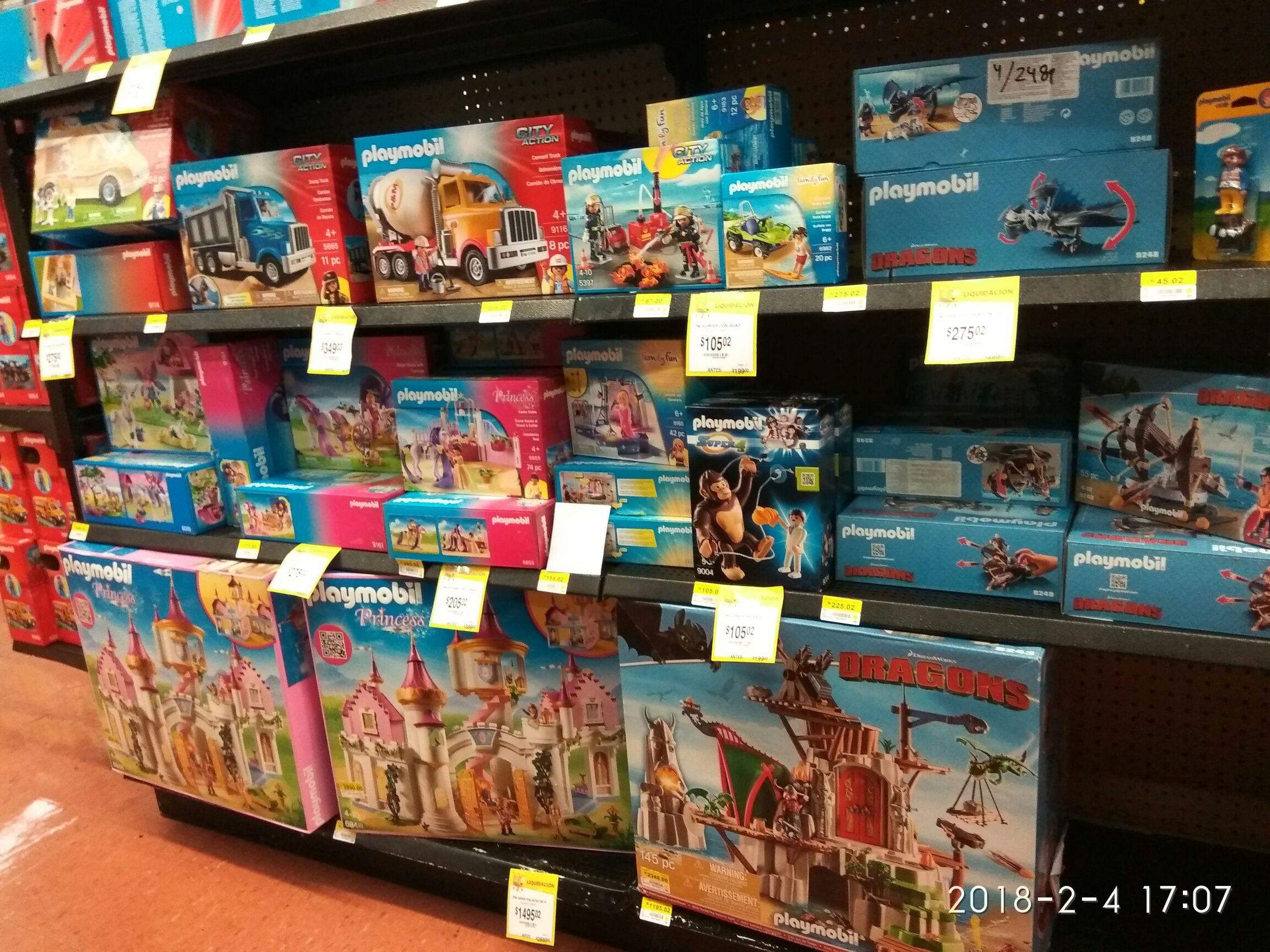 Walmart: Liquidaciones de playmobil .03 y .02 y más