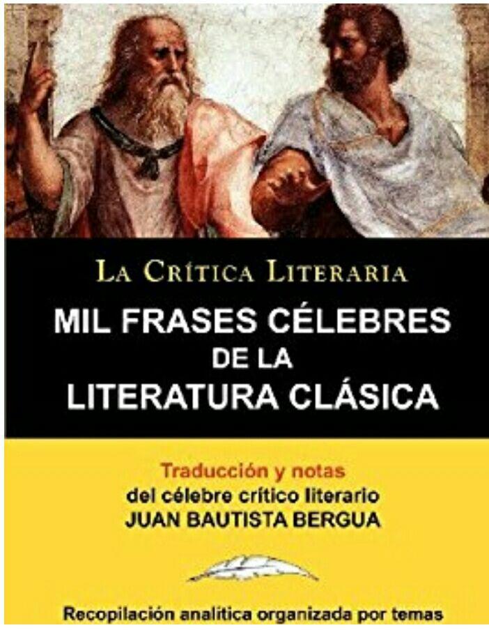 """Amazon: """"Mil frases celebres de la literatura clásica"""" (libro físico) (Prime):"""