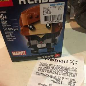 Walmart: Black Widow Lego Brick Headz