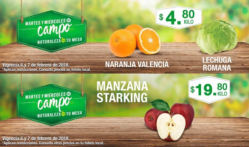 Comercial Mexicana y MEGA: Martes y Miércoles del Campo 6 y 7 Febrero